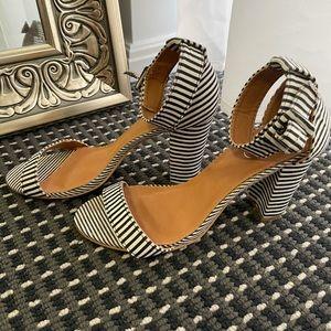 heeled sandals | stripes heels | stripes sandals